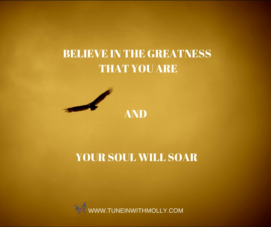 BELIEVE IN THE GREATNESS THAT YOU AREAND YOUR SOUL WILL SOAR (1)